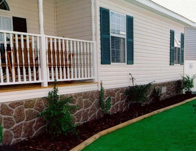 house skirting options with Skirting For Mobile Homes Different Options on Int architrave also 15 Awesome Shipping Container Hunting Cabins moreover 248331366925513740 as well Deck furthermore Home Exterior Renovation From Tired To Stylish.